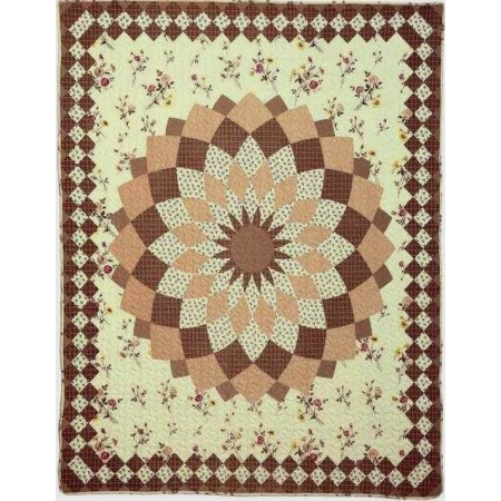 Isabella Dahlia Throw Size Quilt