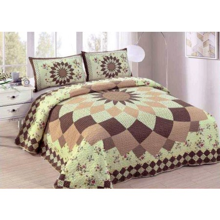 Isabella Dahlia Quilt Set - Full/Queen Size - Includes Shams