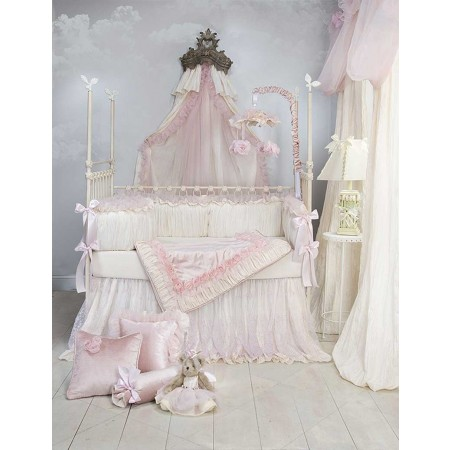 Anastasia 3 Piece Crib Bedding (Cream)
