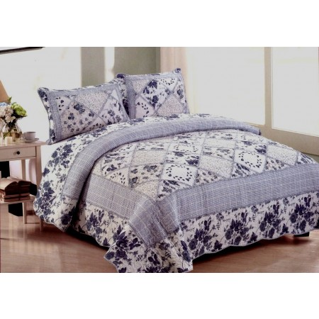 Juliet Queen Size Quilt Set - Includes 2 Standard Pillow Shams