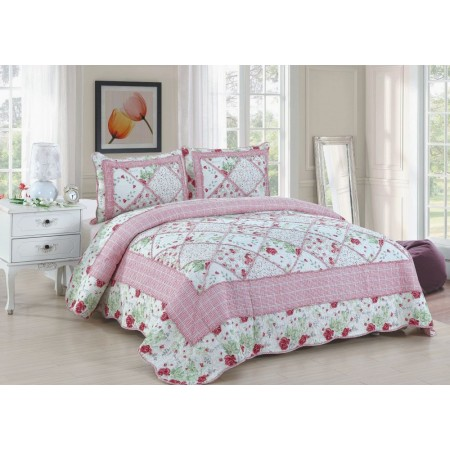 Rosalie Quilt Set - Full/Queen Size - Includes 2 Pillow Shams