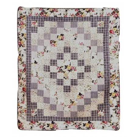 Romantic Garden Throw Size Quilt