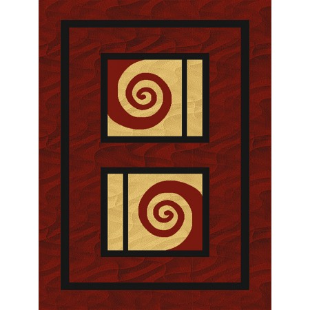 Splash Burgundy Area Rug - Transitional Style Area Rug