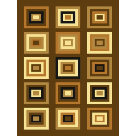 Chronicle Chocolate Area Rug - Geometric Style Area Rug Area Rug
