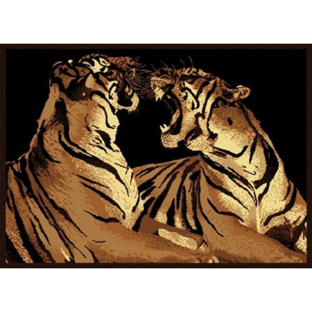 "Double Tigers Area Rug (63"" X 86"")"