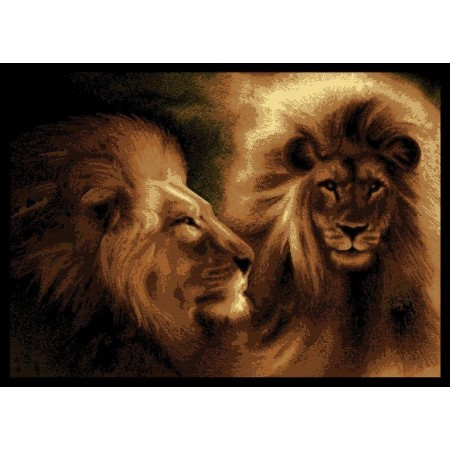 "Lion Profile Area Rug (63"" X 86"")"