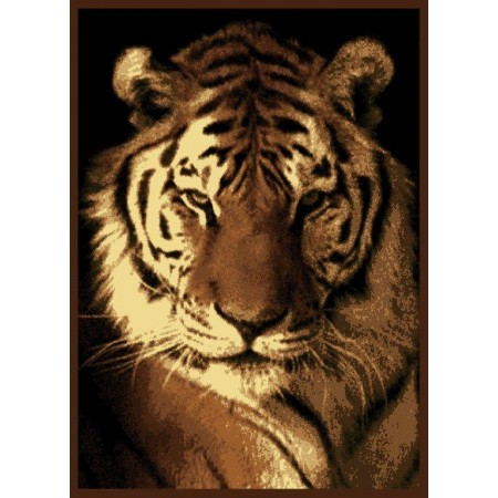 "Tiger Portrait Area Rug (63"" X 86"")"