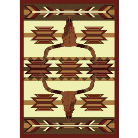"Bone Arrow Area Rug (63"" X 86"")"
