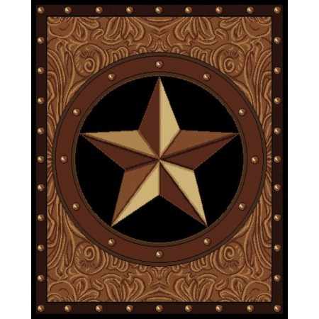 "Ranch Star Area Rug (63"" X 86"")"