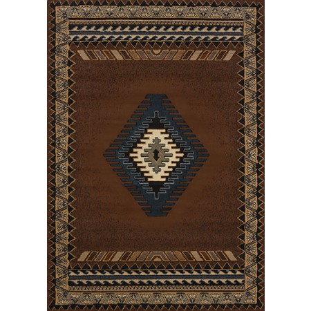 "Tucson Brown Accent Rug (22"" X 36"")"