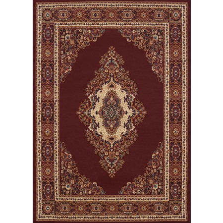 Cathedral Burgundy Area Rug - Traditional Style Area Rug