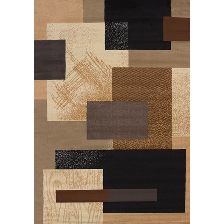 Soho Brown Area Rug - Geometric Style Area Rug Area Rug