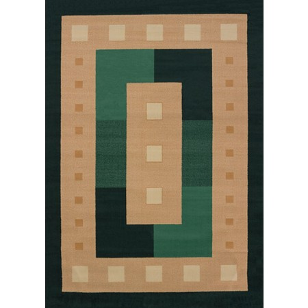 Time Square Hunter Area Rug - Geometric Style Area Rug Area Rug