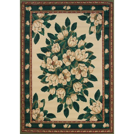 Magnolia Cream Area Rug - Traditional Style Area Rug