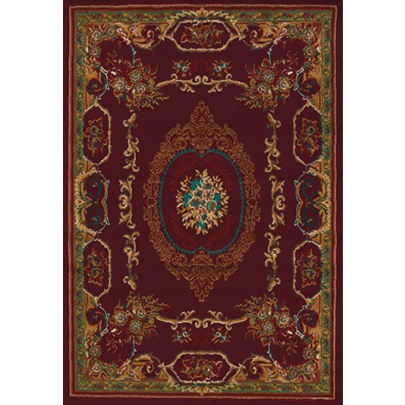 Lexington Burgundy Area Rug - Traditional Style Area Rug