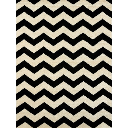 Chevron Black Area Rug