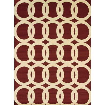 Sochi Red Area Rug - Transitional Style