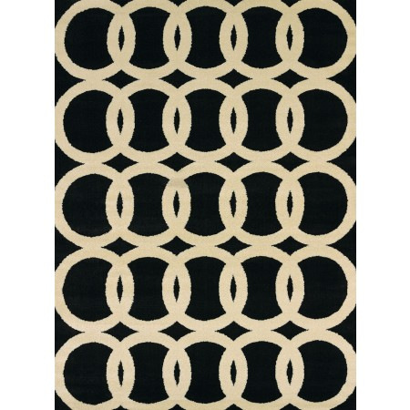 Sochi Black Area Rug - Transitional Style