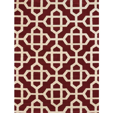 Orison Red Area Rug - Transitional Style Area Rug