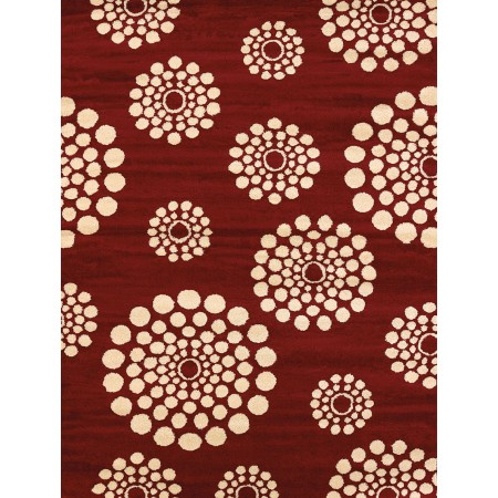 Bombay Red Area Rug - Modern Style Area Rug Style