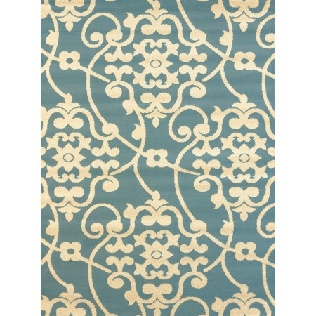 Jardin Blue Area Rug - Transitional Style Area Rug