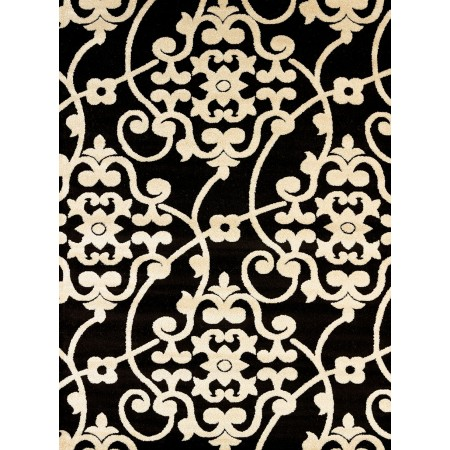 Jardin Black Area Rug - Transitional Style Area Rug