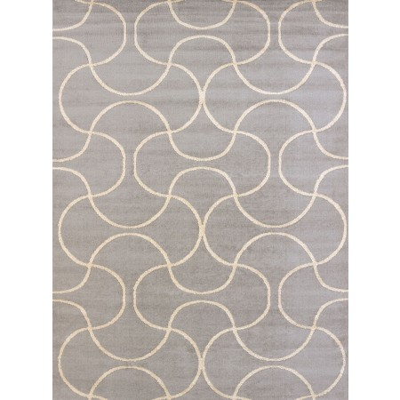 Pavane Gray Area Rug - Transitional Style