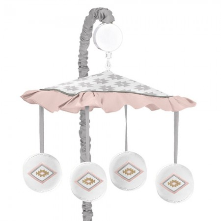 Aztec Pink & Gray Mobile