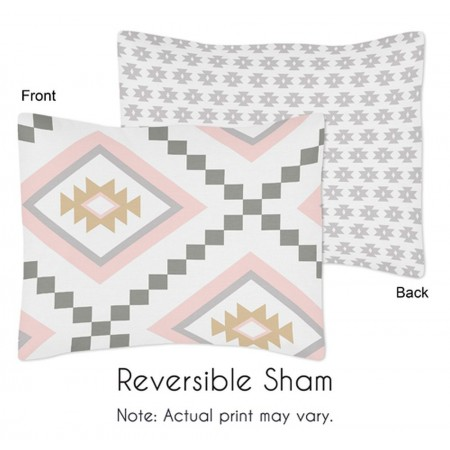 Aztec Pink & Gray Pillow Sham