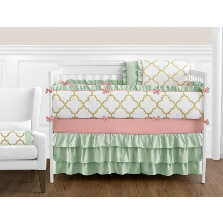 Ava 11 Piece Bumperless Crib Set by Sweet Jojo Design