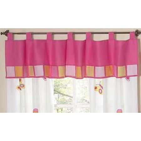 Butterfly Pink & Orange Valance by Sweet Jojo Designs