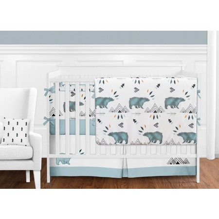 Bear Mountain 11 Piece Bumperless Crib Set by Sweet Jojo Design