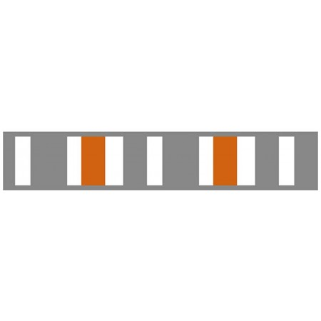 Gray & Orange Stripe Border
