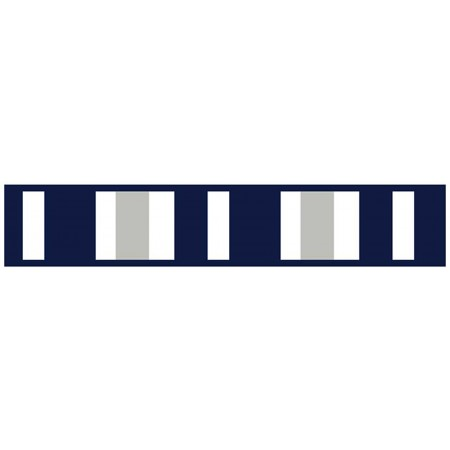 Navy & Gray Stripe Border