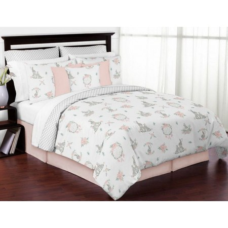 Bunny Floral Bedding Set - 4 Piece Twin Size By Sweet Jojo Designs