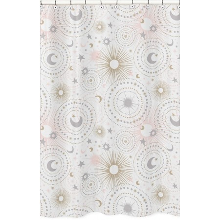 Celestial Pink & Gold Shower Curtain