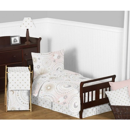 Celestial Pink & Gold Toddler Bedding Set By Sweet Jojo Designs