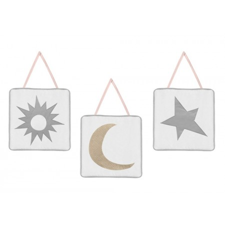 Celestial Pink & Gold Wall Hanging