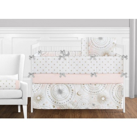Celestial Pink & Gold 11 Piece Bumperless Crib Set by Sweet Jojo Design