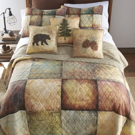 Wood Patch Full/Queen Size Quilt  - 90  X  90