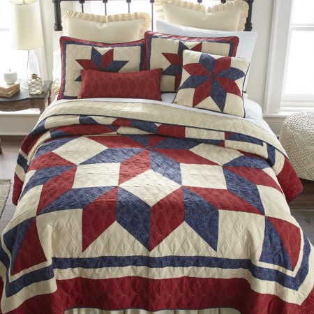 Donna Sharp Gatlinburg Star Twin Size Quilt - 68 X 90