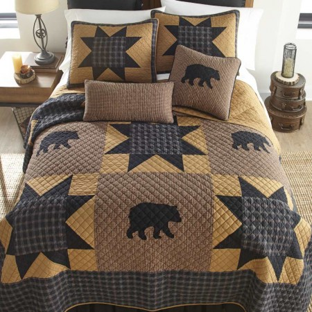 Donna Sharp Bear Star King Size Quilt - 110 X 96