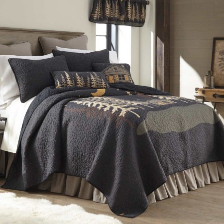 Donna Sharp Moonlit Cabin King Size Quilt - 110 X 96