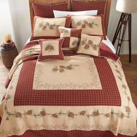 Pine Lodge Full/Queen Size Quilt  - 91  X  91