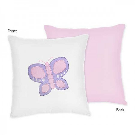 Butterfly Pink & Lavender Accent Pillow
