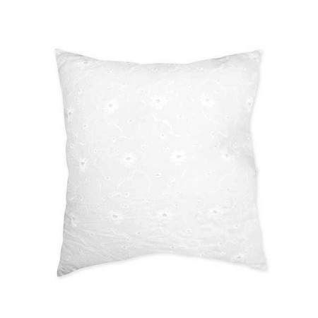 White Eyelet Accent Pillow