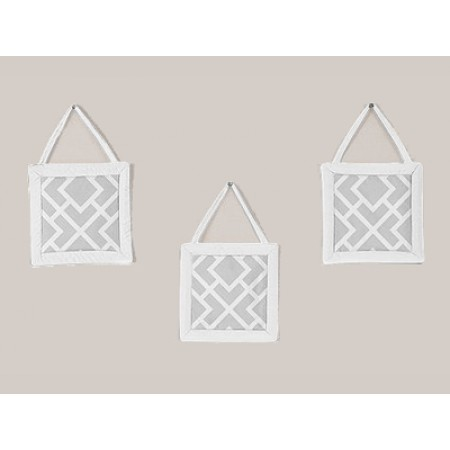 Diamond Gray & White Wall Hanging