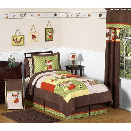 Forest Friends Bedding Set - 4 Piece Twin Size by Sweet Jojo Designs