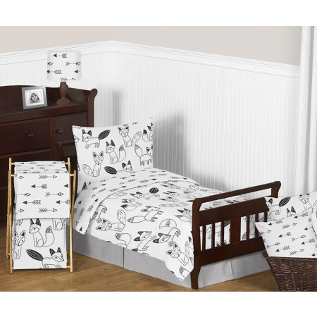 Fox Black & White Toddler Bedding Set By Sweet Jojo Designs