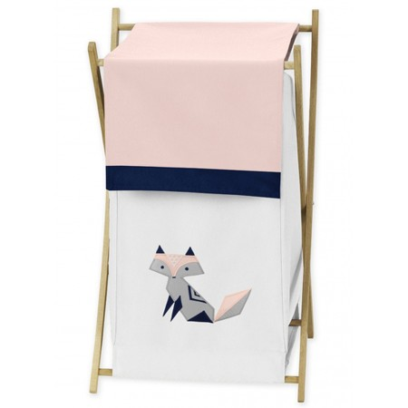 Fox Patch Pink & Navy Hamper